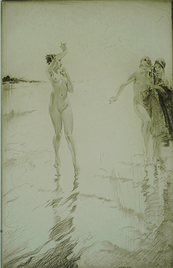 Gleaming Sands - WILLIAM RUSSELL FLINT - drypoint