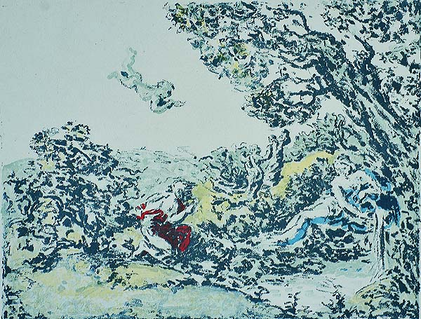 La Source - KER XAVIER ROUSSEL - lithograph printed in colors
